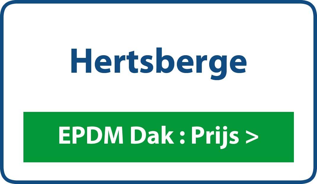 EPDM dak Hertsberge