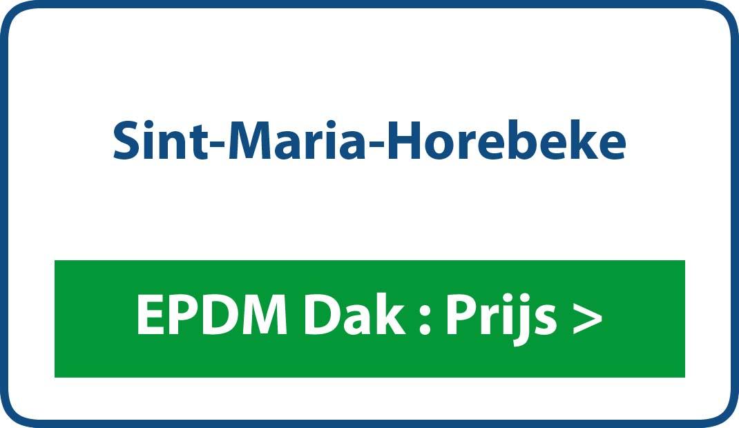 EPDM dak Sint-Maria-Horebeke