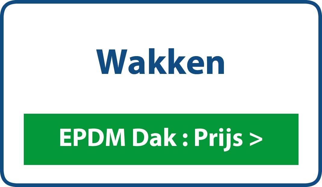 EPDM dak Wakken