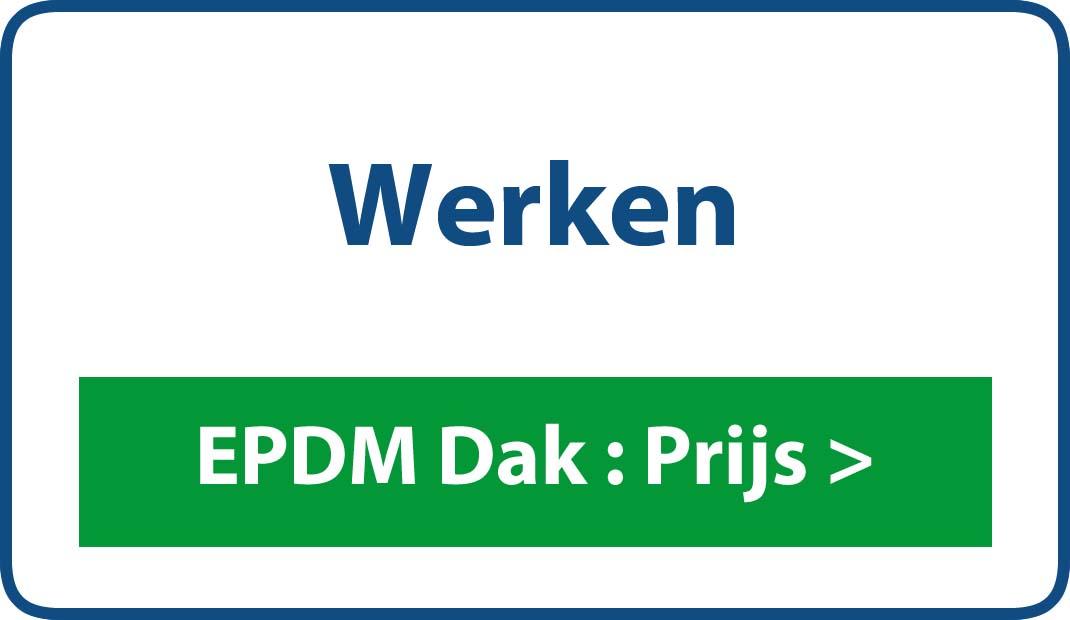EPDM dak Werken